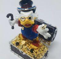 Disney Parks Arribas Brother Scrooge Mcduck Swarovski Limited Edition Figurine