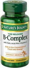 Nature's Bounty B-Complex With Folic Acid Plus Vitamin C Tablets 125 ea
