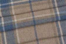 3.40m Laura Ashley 'Highland Check' in Seaspray FR Upholstery Fabric