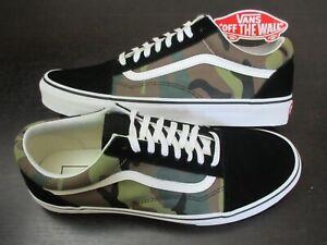 Vans Men's Old Skool Woodland Camo Canvas Black Suede Skate Shoes Size 11 NWT