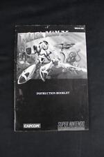 Mega Man X Super Nintendo SNES Instruction Manual Booklet Only NO GAME Free S&H!