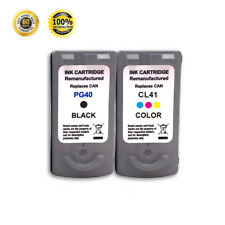 2 PK PG 40 CL 41 Black Color Ink For Canon PIXMA IP1200 IP1300  IP1600 IP1700