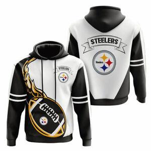Pittsburgh Steelers Men's Pullover Hoodies Hooded Sweatshirt Casual Jacket Gifts