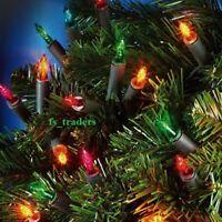 CHRISTMAS PARTY TREE WINDOW DECORATION CLEAR / MULTI COLOUR FAIRY LIGHTS BULBS