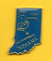 Pin's Pin lapel TOURISME MAP STATE TRAVEL INDIANA Indianapolis Fort WAYNE GARY