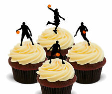 Basketball Edible Cup Cake Toppers, Standup Fairy Bun Decorations Sport Boy Girl