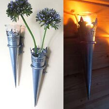 4er Set - Wandkerzenhalter Kerzenhalter Wandleucher Gartenstecker Roma NEU