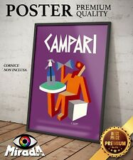 POSTER VINTAGE CAMPARI SELZ FORTUNATO DEPERO FUTURISMO Happy hour QUALITY