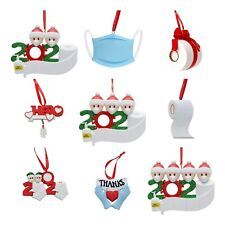2020 Xmas Christmas Party Decoration Gift Santa Claus W/Mask Hanging Ornament