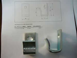 1 New Ikea Angled Connecting Support Hook for Karlstad Sofa Part # 106865