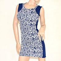 Mini abito donna vestito tubino blu miniabito corto sexy  sera clubwear dress 79