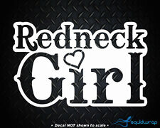 "Redneck Girl Cowgirl Love Girly Heart Car Decal / Laptop Sticker - WHITE 6"""
