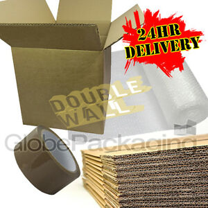 NEW 10 X LARGE DOUBLE WALL Cardboard House Moving Boxes - Removal Packing box