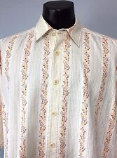 Tommy Bahama Relax Long Sleeve 100% Cotton Lawn Sz L Button Down Vintage