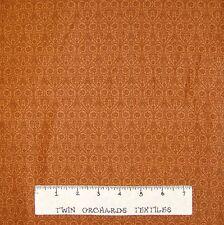 Calico Fabric - Lyndhurst Belgian Lace Brown Flower Damask Northcott OOP YARD