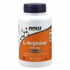 NOW Foods L-Arginine 500 mg 100 Capsules Free Ship