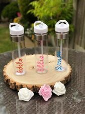 PERSONALISED DRINKING BOTTLE -  FLIP TOP SPOUT WITH STRAW