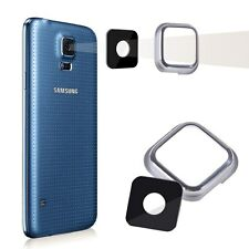 Rear Camera Glass Lens Cover For Samsung Galaxy S5 i9600 G900 G9005 Silver