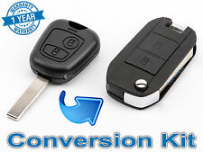 New PEUGEOT 107 206 207 307 SW BOXER EXPERT FLIP KEY CONVERSION KIT 508 LooK