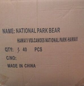 Factory Case of 40 Hawaii Volcanoes National Park Coin bear