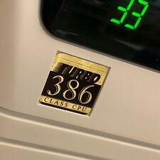Custom Vintage 386 Turbo Computer Case Badge FLAT Sticker Retro PC 386G 1x1