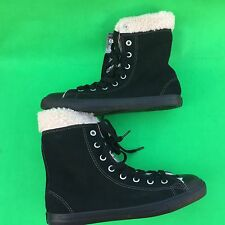 new Converse All Star women's leatherchuck taylor high top faux fur shoes size-6