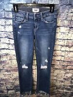 Paige Miki Straight Distressed Blue Jeans Size 25🔥Free shipping✔️💯👀