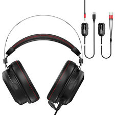 Stereo Gaming Headset 7.1 Surround Sound Wired DSP Sound Card 53mm Driver