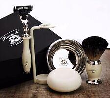 5 Piece Men's Shaving & Grooming Set | Gillette Mach3 & Pure Black Badger Brush