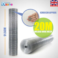 20/30M Roll Welded Wire Mesh Graden Pet Fence Animal Chicken Coop Aviary Fencing