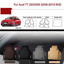 "Full Set 1/2""Thick Solid Nylon Interior Floor Carpet Mats For RHD Audi TT 08-15"
