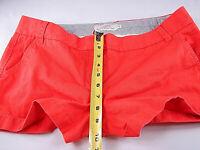J. Crew Women's Cotton Chino Shorts Red Size 12 [36in waist 2in inseam]