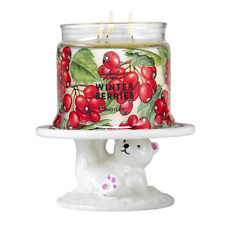 PARTYLITE Beary Merry Pedestal Jar Holder - FREE SHIP   ***BRAND NEW IN BOX***