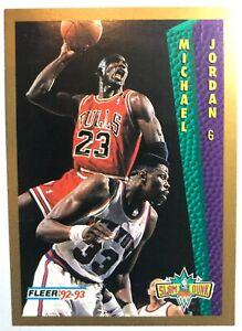 1992 FLEER MICHAEL JORDAN SLAM DUNK BASKETBALL CARD #283 NBA CHICAGO BULLS #23 !