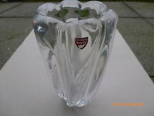 schwere Orrefors Vase signiert: Orrefors EÖ 244 411 , Etikett