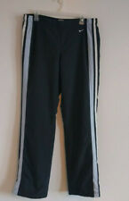 Nike Black with Light Blue Stripe / Workout Pants Womens Large 12-14 Athletic