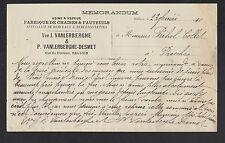 """HALLUIN (59) USINE de CHAISES & FAUTEUILS """"VANLERBERGHE & DESMET"""" en 1910"""