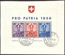 Schweiz Nr. A294-296 Einzelmarken aus Block 2 sauber rundgestempelt Mi. 146,-