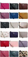 Coach Wristlet Wallet Single Corner Zip Leather F21070 F58032 F73607 Dust Bag