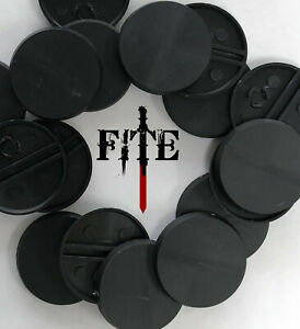 32mm plain round bases - new plastic base for Infinity Warhammer wargaming UK