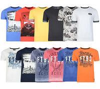 Firetrap New Men's Fashion T-shirts Crew & Vee Neck Cotton Print Plain Tee Top
