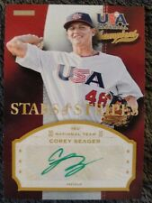 COREY SEAGER #1/2 2013 USA BASEBALL CHAMPIONS GREEN INK DODGERS ROOKIE  AUTO