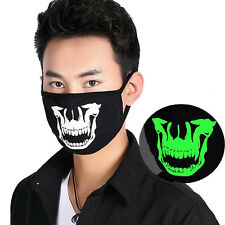 Luminous Boys Girls Anti-Dust Black Cotton Cool Mouth Face Mask Respirator