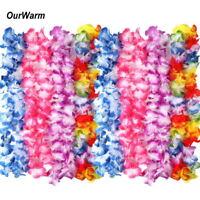60× Hawaiian Flower Hula Lei Garland Necklace Luau Party Costumes Wedding Decor