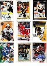 NHL/del trading cards --- 9 signées cards des Adler Mannheim