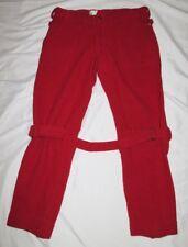 Vivienne Westwood vintage men's bondage pants circa 1990 thick red wool trousers