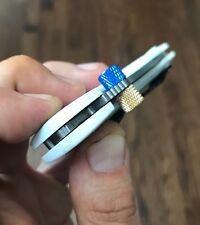 Benchmade Mini Griptilian + Bugout CUSTOM Blue-Copper Monster Thumb Stud