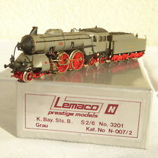 Lemaco N 007-2 Brass Small Series Steam S 2/6 Bayern Gray, Fotolackierung Boxed