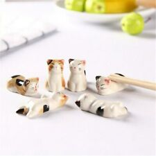 6 Pieces Lucky Cat Ceramic Chopsticks Rack Frame Cartoon Chopsticks Flatwares