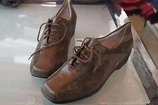 WALDLÄUFER Damen Comfort Schuhe Schnürschuh Leder Einlagen oliv Gr.6 G / 39,5 40